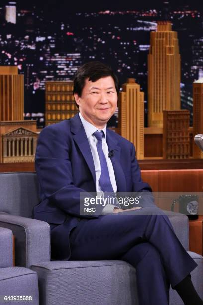 Comedian Ken Jeong during an interview with host Jimmy Fallon on February 22 2017