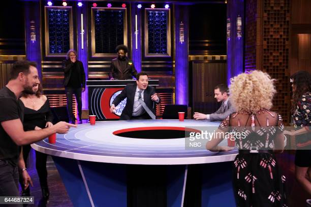 Jimi Westbrook actress Susan Sarandon Philip Sweet Ahmir 'Questlove' Thompson host Jimmy Fallon actor Elijah Wood Kimberly Schlapman and Karen...