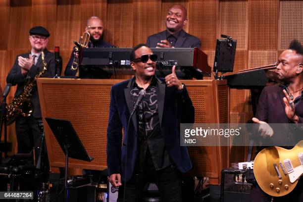 Vocalist Charlie Wilson sitsin with The Roots on February 23 2017