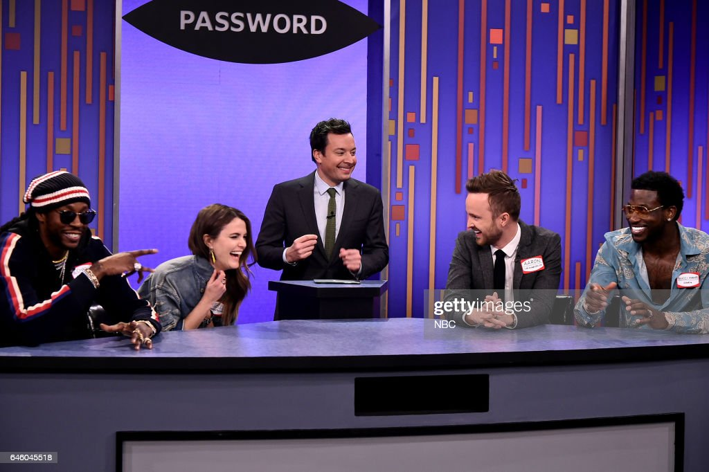 """NBC's """"The Tonight Show Starring Jimmy Fallon"""" with guests Aaron Paul, Keri Russell, 2 Chainz ft. Gucci Mane"""
