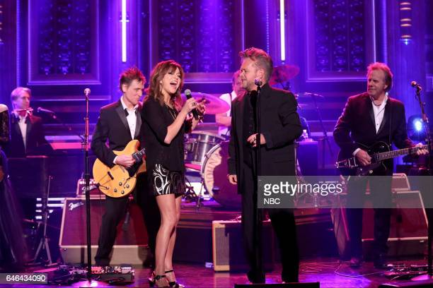 Musical guests John Mellencamp and Martina McBride perform on February 28 2017