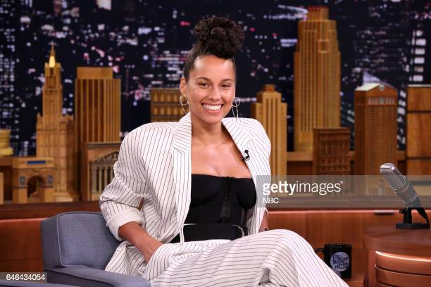 Singer Alicia Keys on February 28 2017