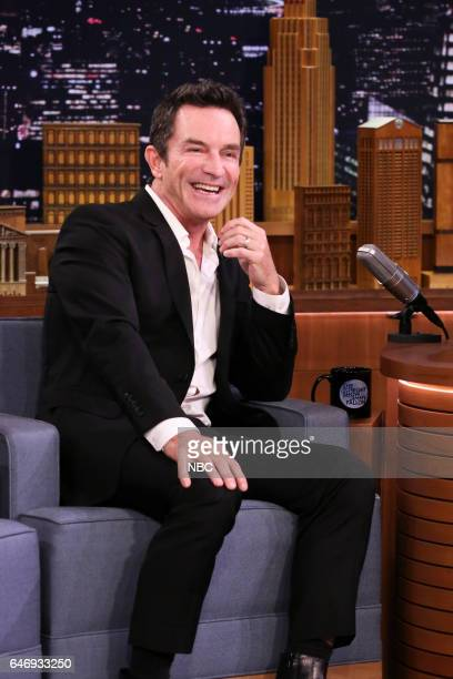 Game show host Jeff Probst during an interview with host Jimmy Fallon on March 1 2017