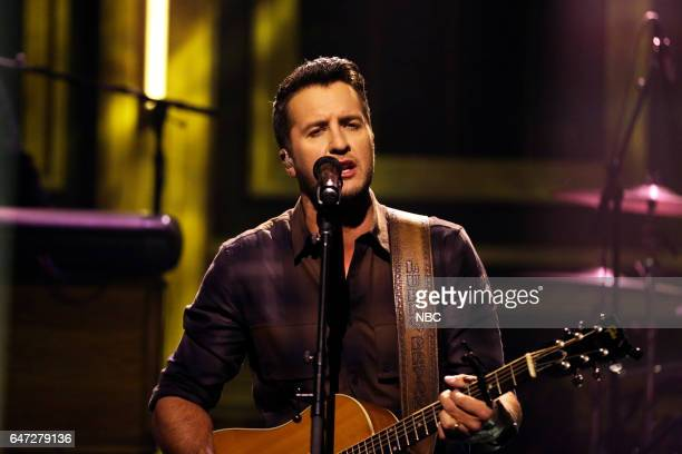 Musical guest Luke Bryan performs on March 2 2017