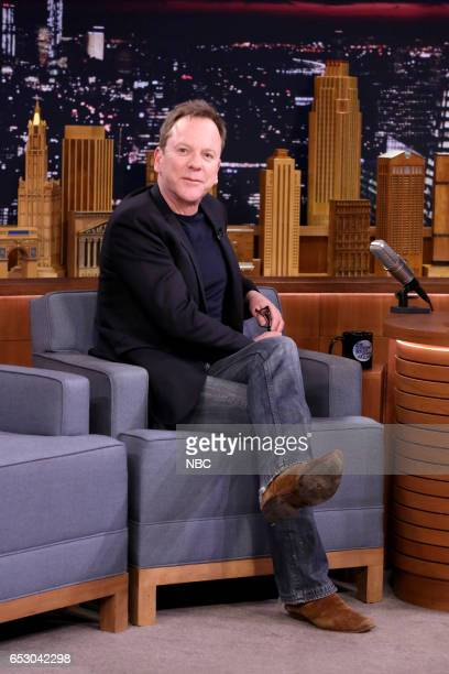 Actor Kiefer Sutherland on March 13 2017