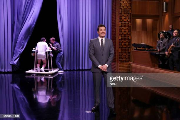 Host Jimmy Fallon during the opening monologue on March 13 2017