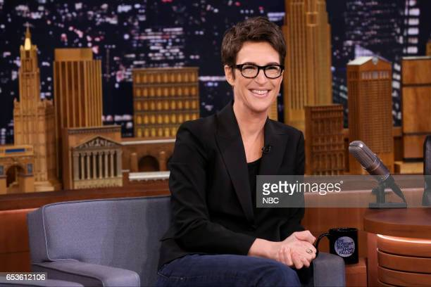 MSNBC television host Rachel Maddow on March 15 2017