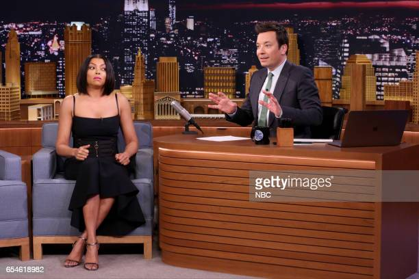 Actress Taraji P Henson during an interview with host Jimmy Fallon on March 17 2017