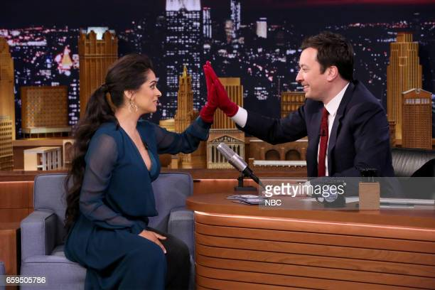 YouTube personality Lilly Singh during an interview with host Jimmy Fallon on March 28 2017