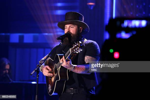 Episode 0649 -- Pictured: Musical guest Zac Brown Band performs on March 29, 2017 --