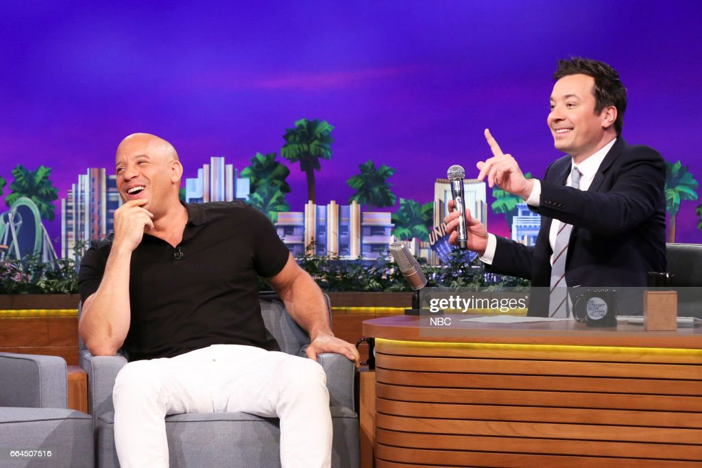 "NBC's ""Tonight Show Starring Jimmy Fallon"" With Guests Vin Diesel, Shaquille O'Neal, Pitbull ft. Stephen Marley"