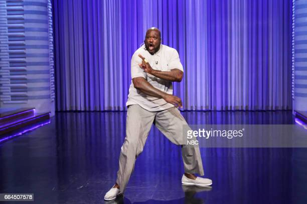 Basketball player Shaquille O'Neal during Lip Sync Battle on April 3 2017