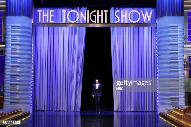 Host Jimmy Fallon during the monologue on April 3 2017