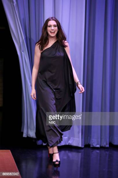 Actress Anne Hathaway arrives on April 17 2017