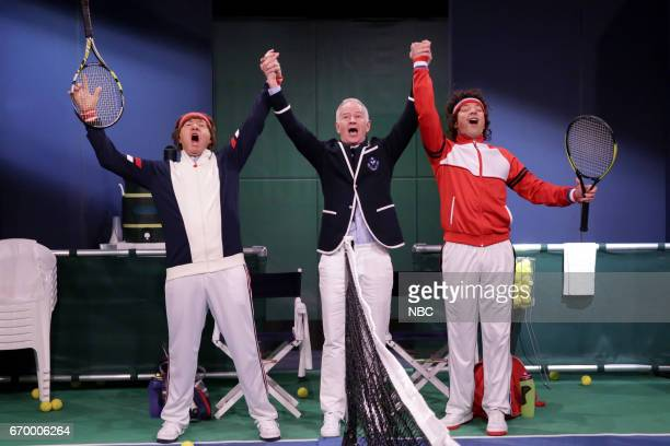 Actor Kevin Spacey with John Macnamara and host Jimmy Fallon during Mad Lib Theater on April 18 2017