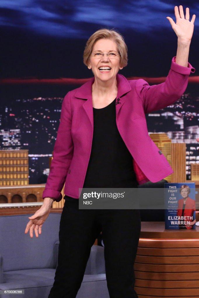 "NBC's ""Tonight Show Starring Jimmy Fallon"" With Guests Kevin Spacey, Senator Elizabeth Warren"