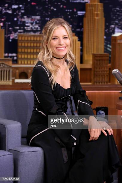 Actress Sienna Miller during an interview on April 19 2017