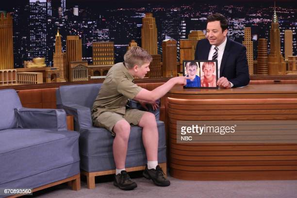 Animal Expert Robert Irwin with host Jimmy Fallon on April 20 2017
