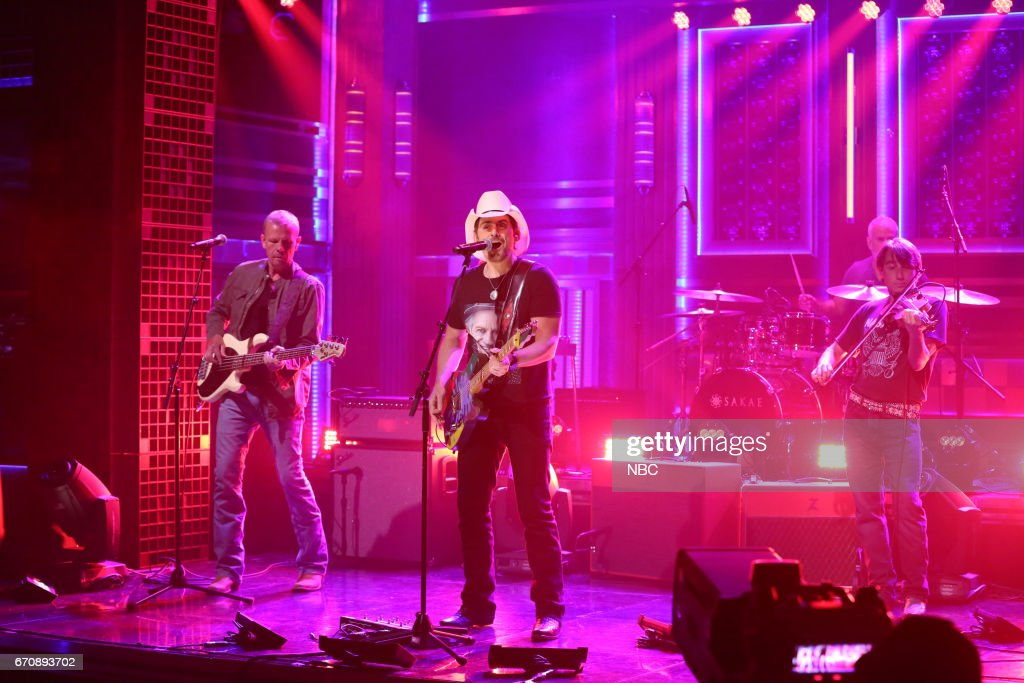 Musical guest Brad Paisley performs 'Contact High' on April 20, 2017 --