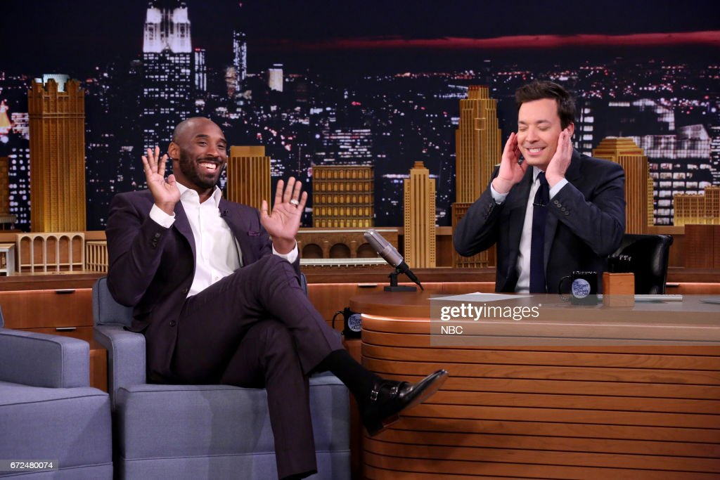 Athlete Kobe Bryant with host Jimmy Fallon during an interview on April 24, 2017 --
