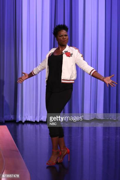 Comedian Leslie Jones arrives for an interview on April 26 2017