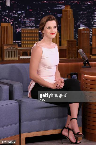 Actress Emma Watson during an interview on April 27 2017