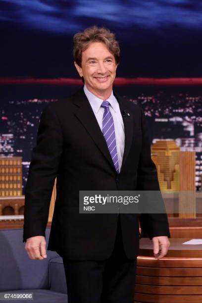 Comedian Martin Short arrives for an interview on April 28 2017