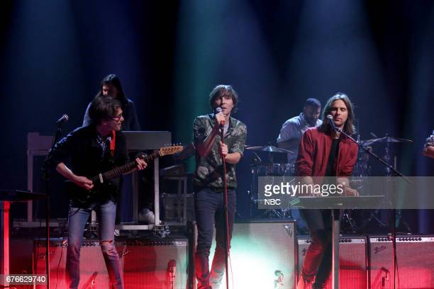 Musical Guest 'Phoenix' featuring Laurent Brancowitz Thomas Mars and Deck d'Arcy performs 'JBoy' on May 2 2017