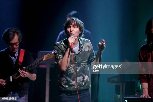 Thomas Mars from Musical Guest 'Phoenix' performs 'JBoy' on May 2 2017