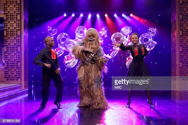 The Rutgers Tuba Band Chewbacca and Salsa Dancers during the 'May the 4th' skit on May 4 2017