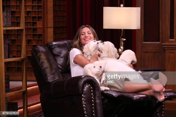 Model Gisele Bundchen during 'Pup Quiz' on May 5 2017