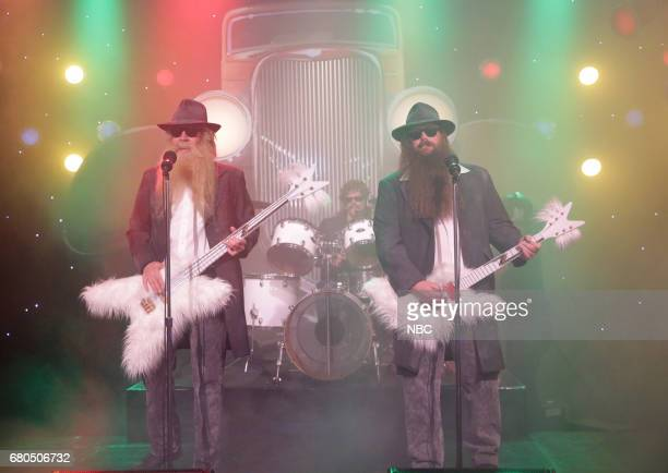 host Jimmy Fallon actor Kevin Bacon and musician Chris Stapleton during 'First Drafts of Rock 'Legs'' on May 8 2017