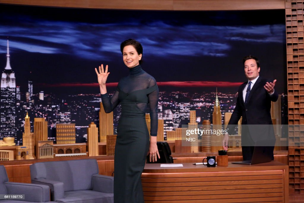 "NBC's ""Tonight Show Starring Jimmy Fallon"" With Guests Aziz Ansari, Katherine Waterston, Blondie"