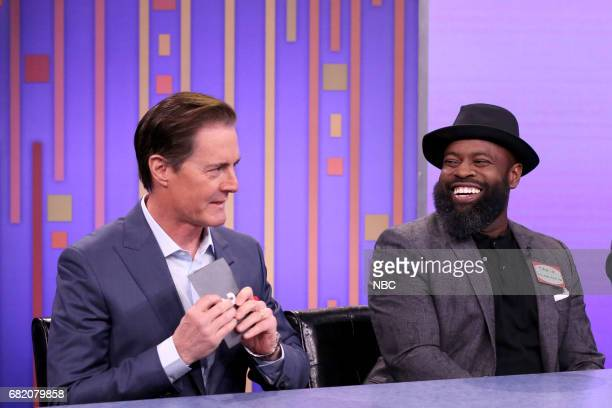 Actor Kyle MacLachlan musician Tariq Black Thought Trotter play 'Password' on May 11 2017