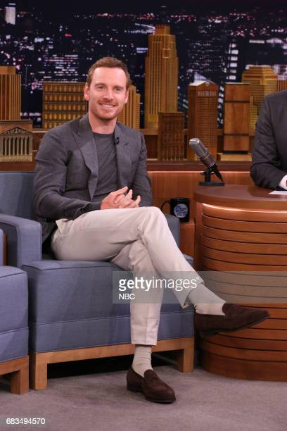 Actor Michael Fassbender during an interview on May 15 2017