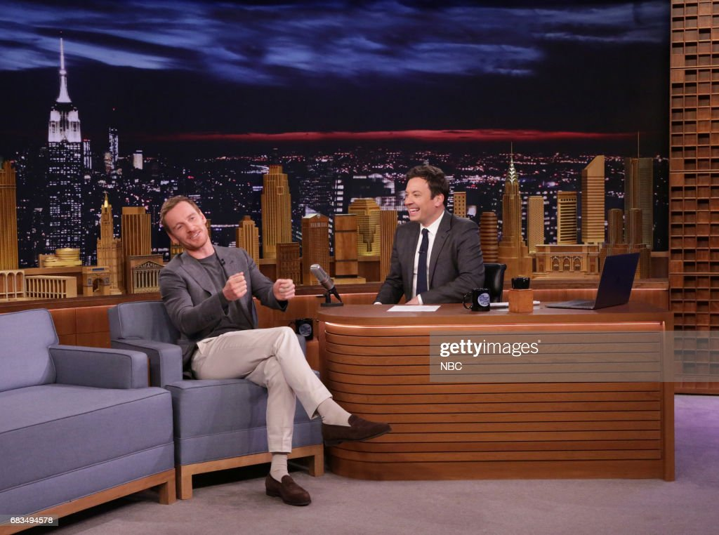 Actor Michael Fassbender during an interview with host Jimmy Fallon on May 15, 2017 --