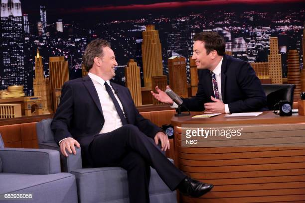 Actor Matthew Perry during an interview with host Jimmy Fallon on May 16 2017