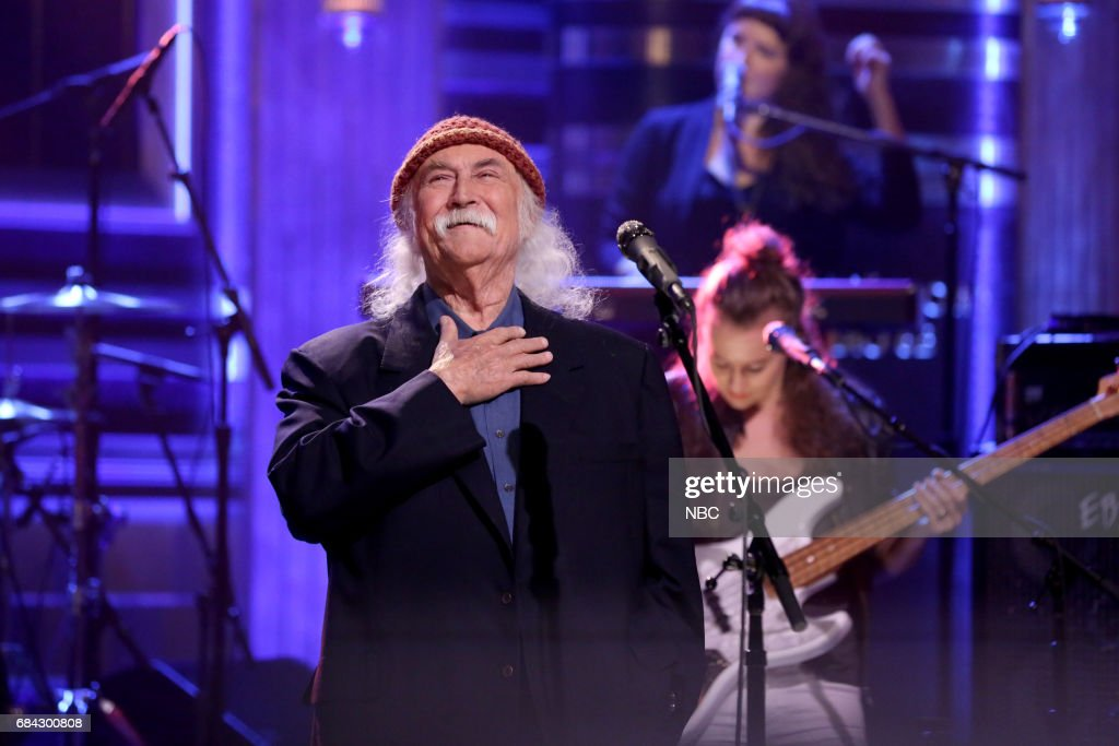 Musical Guest David Crosby performs 'She's Got To Be Somewhere' on May 17, 2017 --