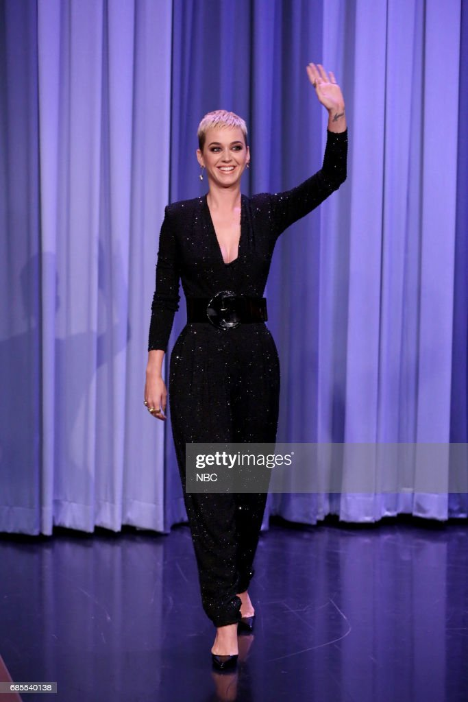 Singer-songwriter Katy Perry arrives for an interview on May 19, 2017 --