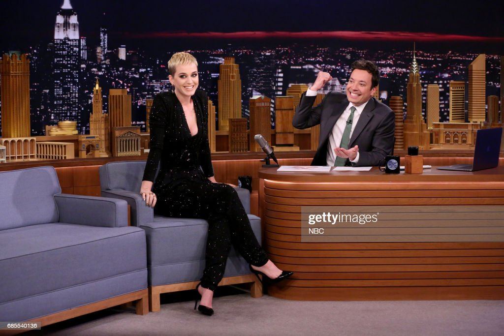 Singer-songwriter Katy Perry during interview with host Jimmy Fallon on May 19, 2017 --