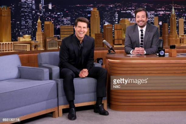 Actor Tom Cruise during an interview with host Jimmy Fallon on June 6 2017