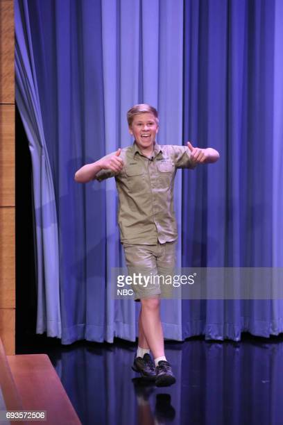 Animal Expert Robert Irwin arrives for an interview on June 7 2017