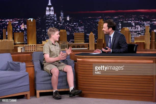 Animal Expert Robert Irwin during an interview with Host Jimmy Fallon on June 7 2017