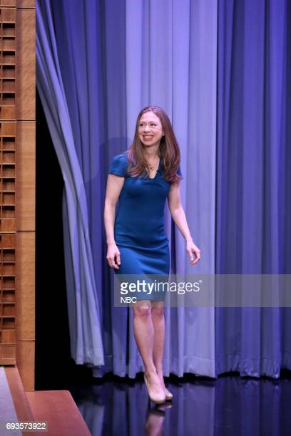 Author Chelsea Clinton arrives for an interview on June 7 2017
