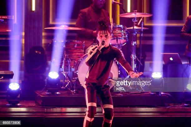 Slim Jxmmi of musical guest Rae Sremmurd perform 'Swang' on June 7 2017