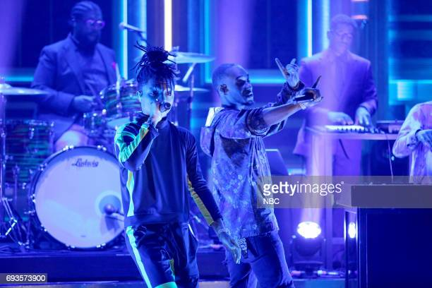 Swae Lee and Slim Jxmmi of musical guest Rae Sremmurd perform 'Swang' on June 7 2017