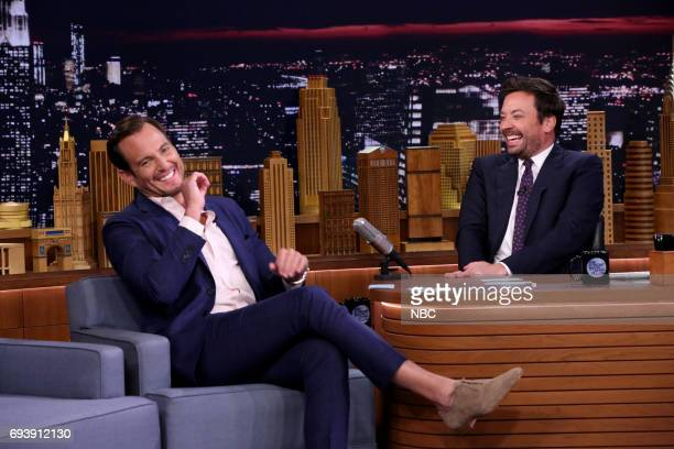 Actor Will Arnett during an interview with host Jimmy Fallon on June 8 2017