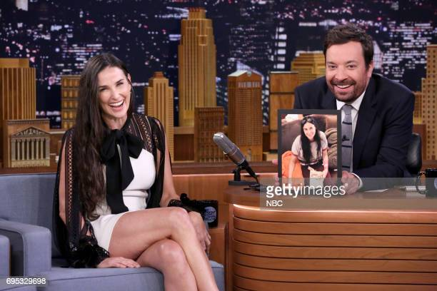 Actor Demi Moore during an interview with host Jimmy Fallon on June 12 2017