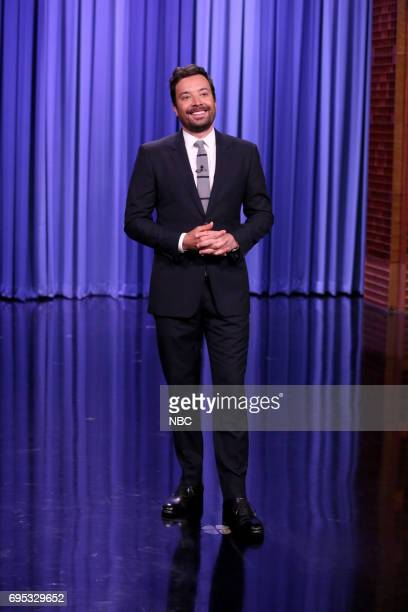 Host Jimmy Fallon during his monologue on June 12 2017