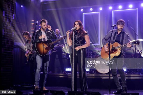 Charles Kelley Hillary Scott and Dave Haywood from 'Lady Antebellum' perform on June 13 2017